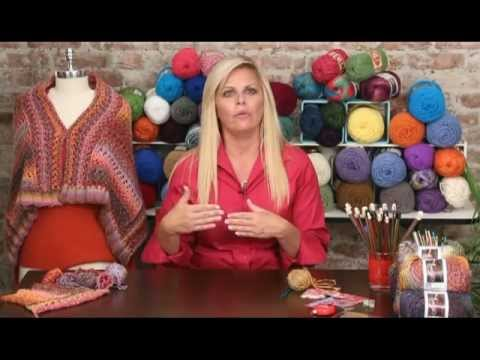 Learn To Knit The Sunset Wrap With Red Heart Boutique Treasure Youtube