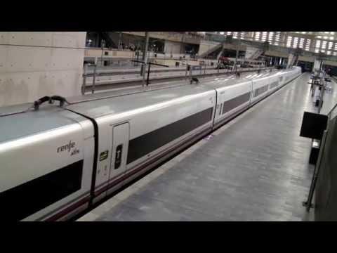 Renfe Ave from Barcelona to Sevilla at Zaragoza Station