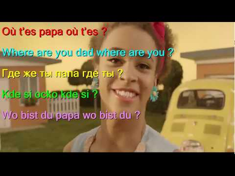 Learn French by Stromae   Papaoutai French English German Slovak Russian LYRICS SUBTITLES
