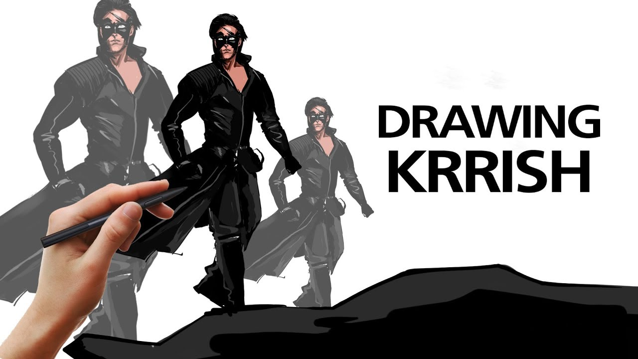 How to draw krrish how to draw hritik roshan krrish drawing and coloring krrish 3