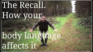 Dog Recall. How Body Language Affects Your Recall.