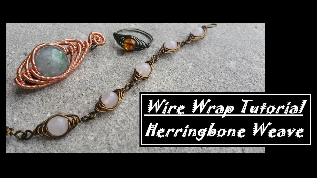 Herringbone Wire Weave Tutorial Center Phone Quotholdquot With Music How To Wrap Youtube Rh Com