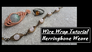 How to herringbone Wire Wrap