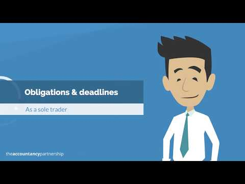 Obligations & deadlines: Sole Traders - The Accountancy Partnership
