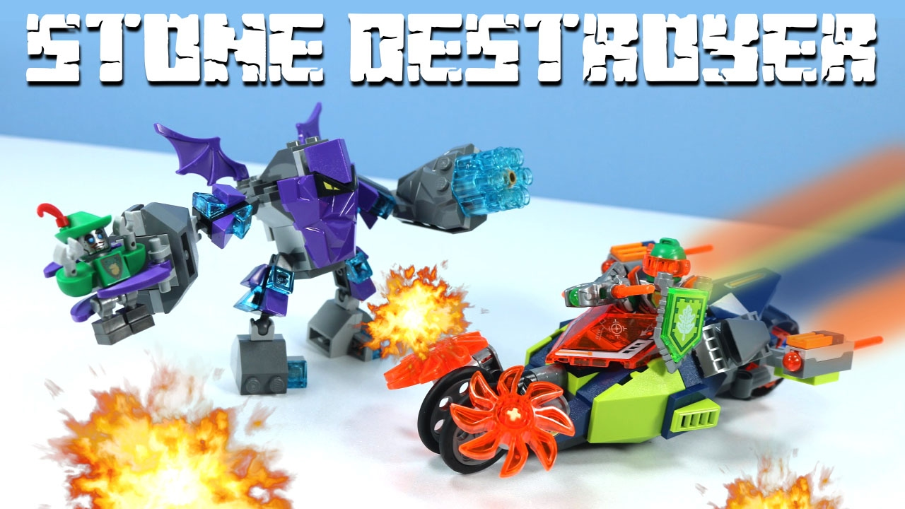Lego Nexo Knights Aarons Stone Destroyer With Robot Hoodlum Youtube