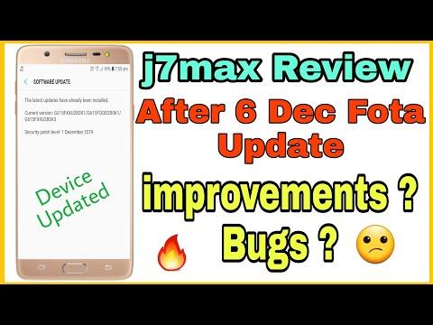 j7max New Fota Update 6 dec 2019 Review....improvements?? Bugs??😊🔥