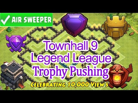 Clash of Clans - TownHall 9 (TH9) Best TROPHY Pushing 2016- Speed Build + Live Replays - Must Watch