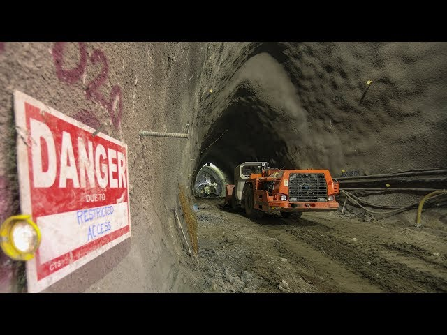 We get an exclusive look inside the underground cavern where Metrolinx is building Laird station for the Crosstown LRT. Because the neighbourhood where the station is being built is so densely populated, workers have used an unconventional construction method that involves effectively mining out a large underground cave and then building the station inside, which minimizes the disruptions above ground.