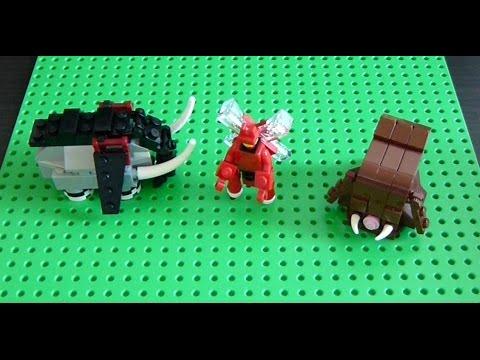 Lego Pokemon Instructions Part 22 Donphan Scizor And Piloswine