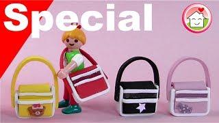 Playmobil deutsch - Pimp my PLAYMOBIL - Schultaschen - DIY für Kinder - Family Stories