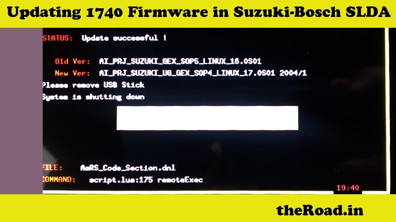 1750 download link | Updating 1740 Firmware in Suzuki-Bosch SLDA | Android  Auto