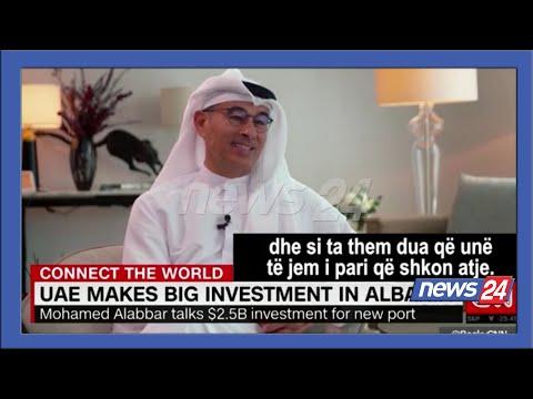 """""""Durrësi, Dubai i vogël i Mesdheut"""", investitori Alabbar në CNN: Në Shqipëri shoh Evropën e Re"""