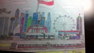 My Old Singapore Drawing from 2010