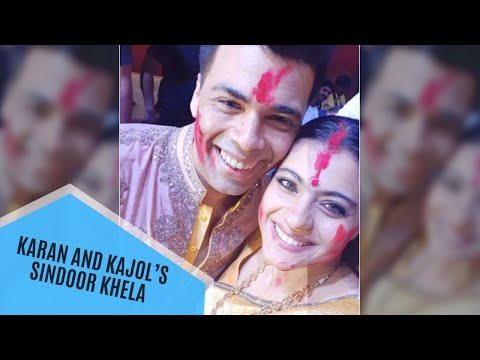 Karan Johar And Kajol's Sindoor Khela Pictures Are All Things Love | SpotboyE