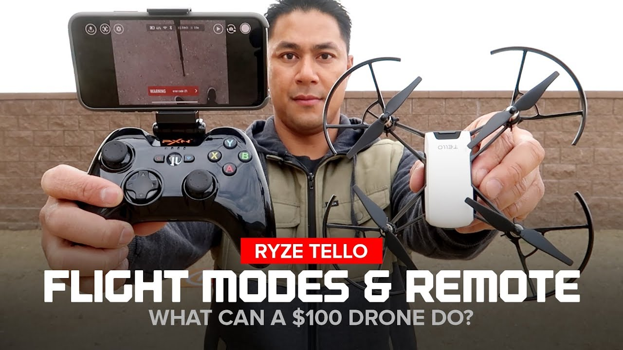 Ryze Tello Drone Flight Modes And Bluetooth Remote Controller The Wireless Control System Has One Mode T You