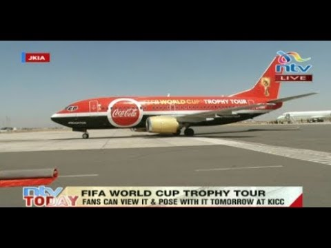 Trophy lands from Ethiopia for a two-day FIFA World Cup tour