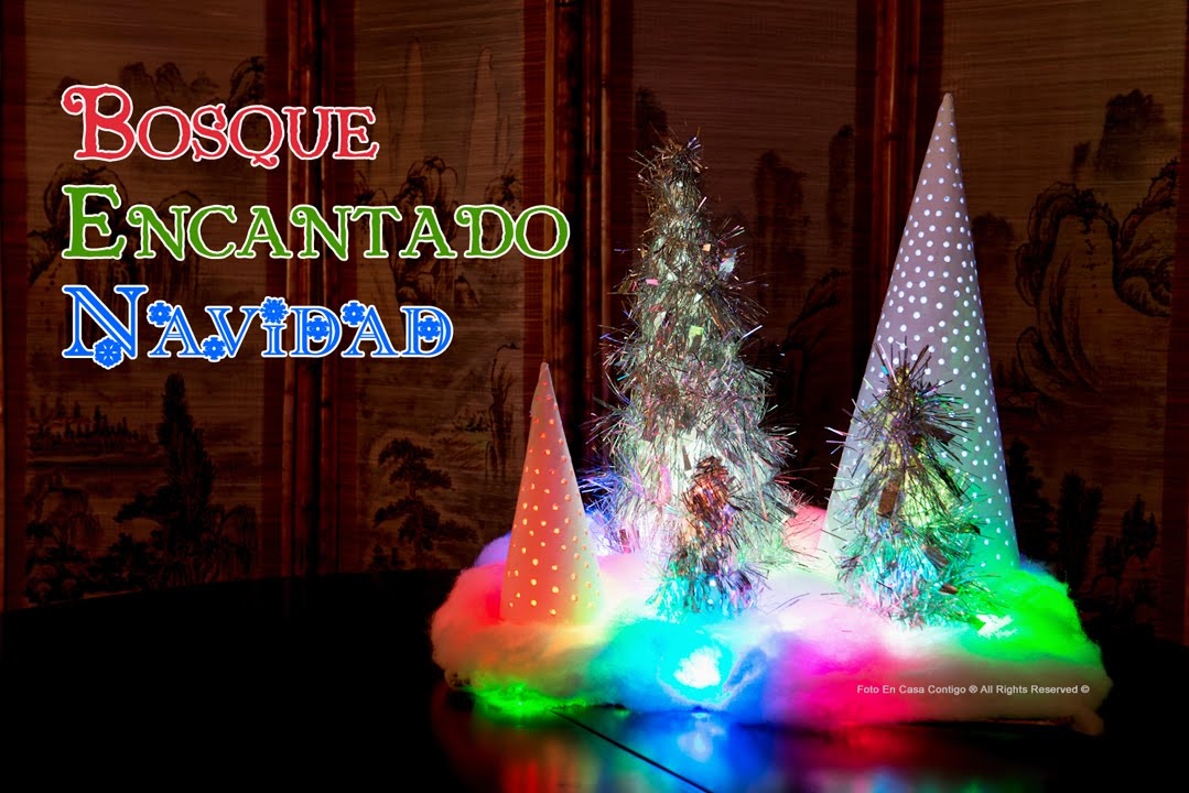 Decoracion Bosque Encantado con Luces de Navidad  YouTube
