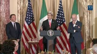 Vice President Biden Hosts a Luncheon in Honor of Prime Minister Renzi