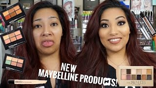 NEW MAYBELLINE PRODUCTS! Makeup Tutorial + Review The 24k Nudes Palette & MORE