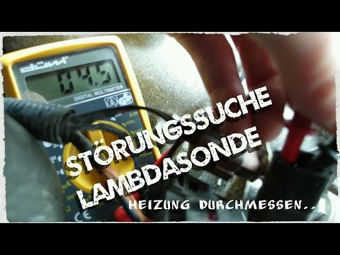 Lambdasonde (Regelsonde) messen -  Störungssuche bei Fehlercode P0135, P1178, P1180 und P1181