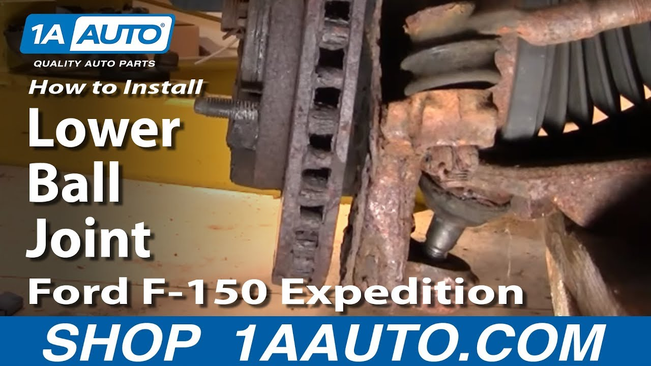 Part  How To Install Replace Lower Ball Joint   Ford F Aauto Com