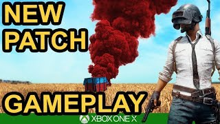 HUGE NEW PATCH GAMEPLAY - New Gun in action / PUBG Xbox One X