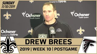Drew Brees Postgame Reactions After Week 10 Loss vs. Falcons | New Orleans Saints Football