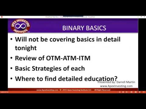Monday Nadex Webinar 08/29/2016 Choosing the Right Binary for Your Strategy