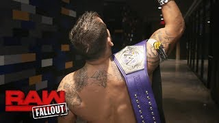 Kalisto dedicates his WWE Cruiserweight Title victory to Eddie Guerrero: Raw Fallout, Oct. 9, 2017