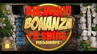 Bonanza BIG WIN!!! +5 Spins!!! £5 Bonus