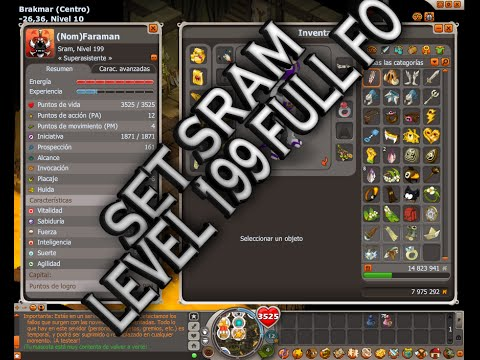 DOFUS BETA| SET SRAM LEVEL 199 DOFUS HISPANIA