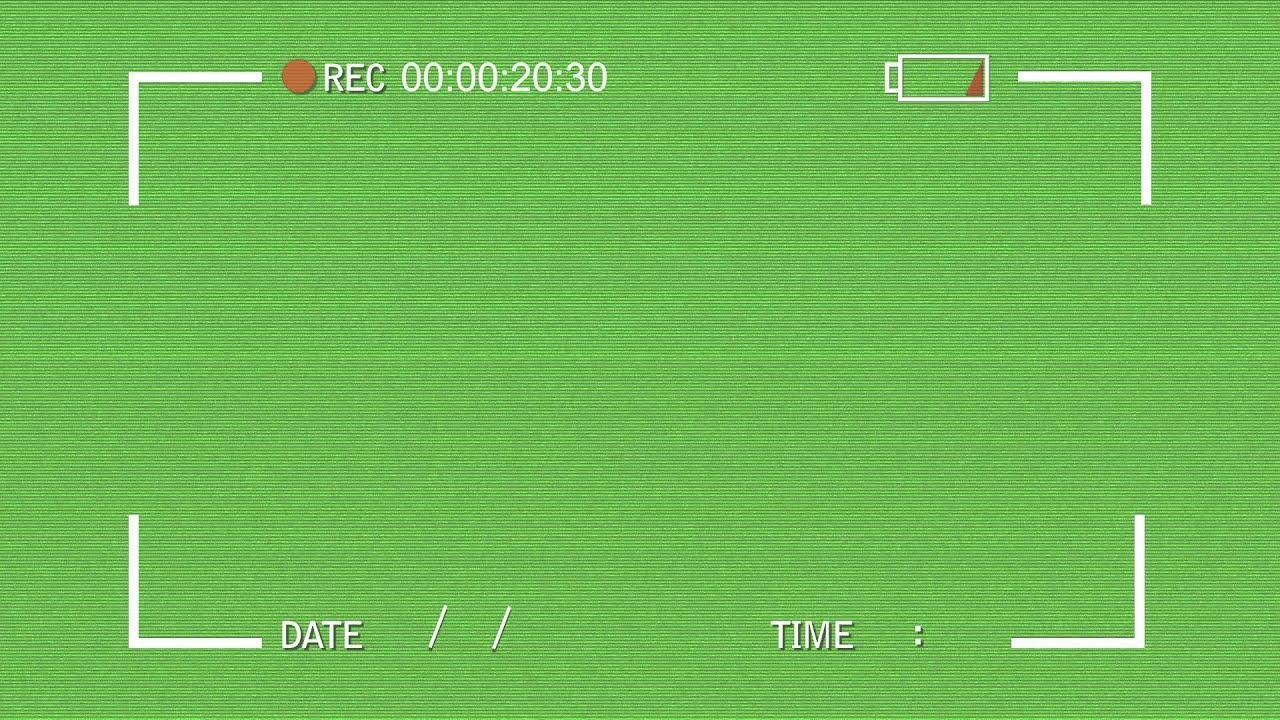 VHS Video Camera look - Green Screen Animation mov