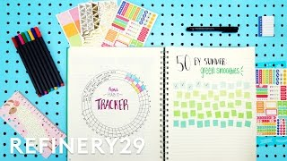 Plan With Me - 5 Days Of Bullet Journaling | Try Living With Lucie | Refinery29