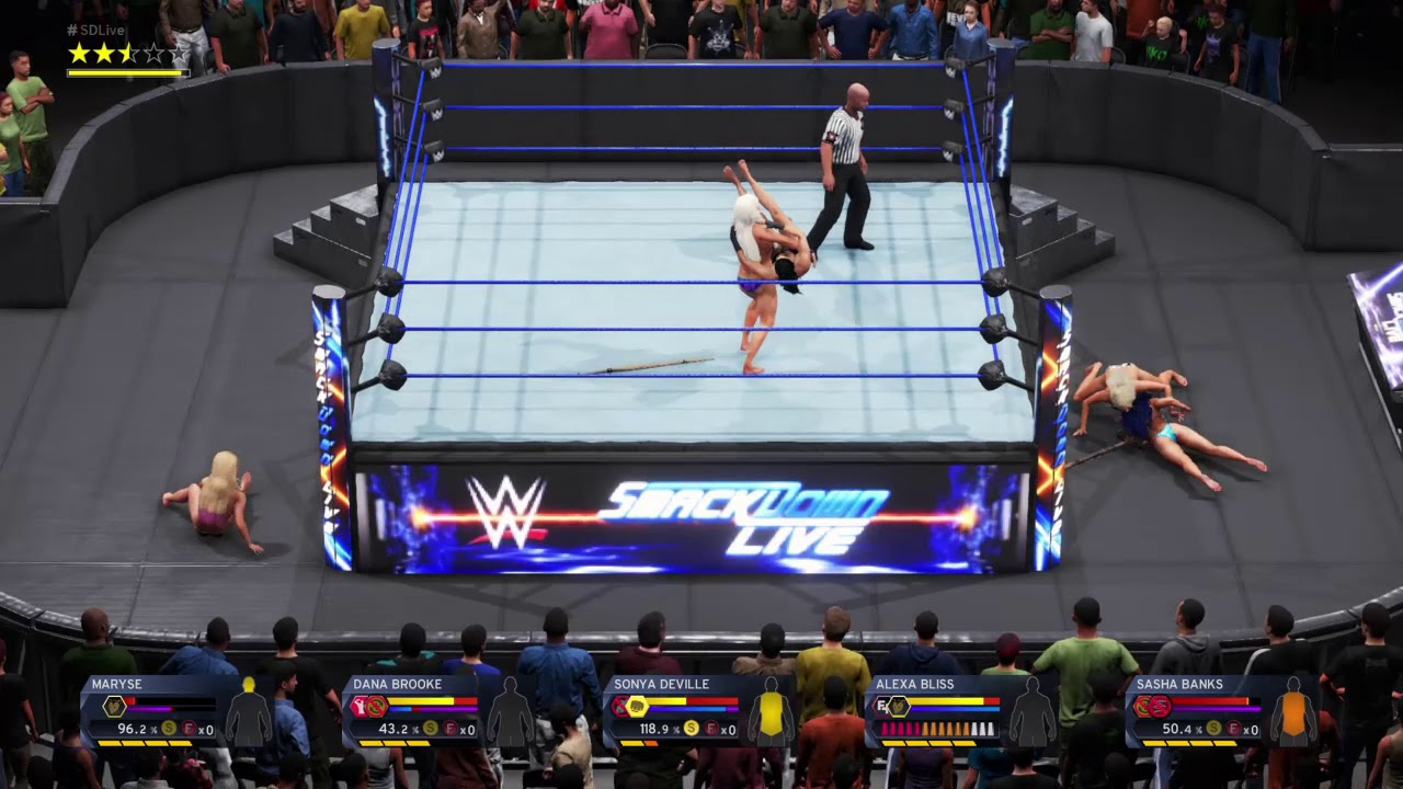 WWE 2K20_Fatal 5-Way Falls Count Anywhere Extreme Rules Elimination match