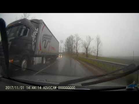 Pedazo de hielo causa accidente vehicular en Bielorrusia