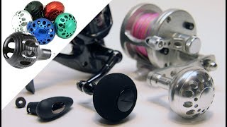 How to Replace a Riveted Fishing Knob With a Power Knob | Avet Van Staal Shimano Daiwa Gomexus