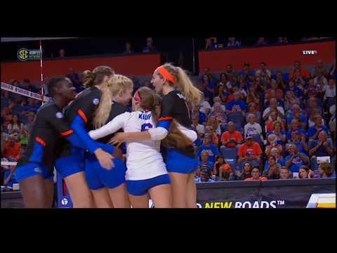 #12 Florida vs #1 Texas - Set 1 - Women's College Volleyball - 8/25/17