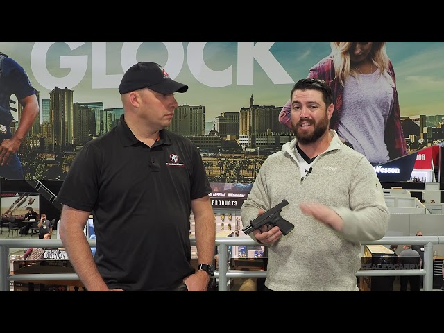 Shane Coley with the New Glock – G44 at SHOT Show 2020