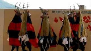 【全体公開】2012.09.16宇和島市吉田町の鹿踊