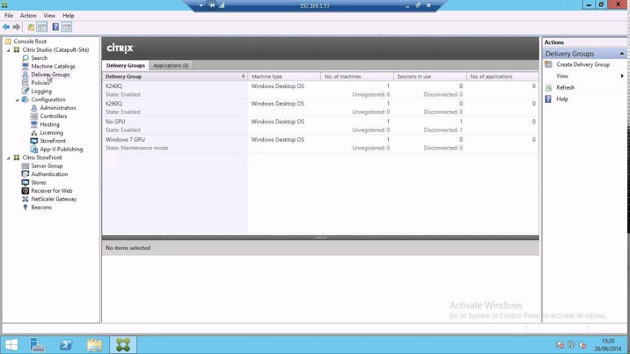 XenServer GPU Passthrough - XenDesktop Configuration Part5