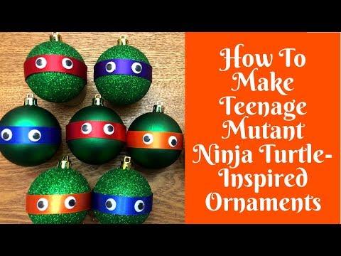 Christmas Crafts: Teenage Mutant Ninja Turtle-Inspired Ornaments