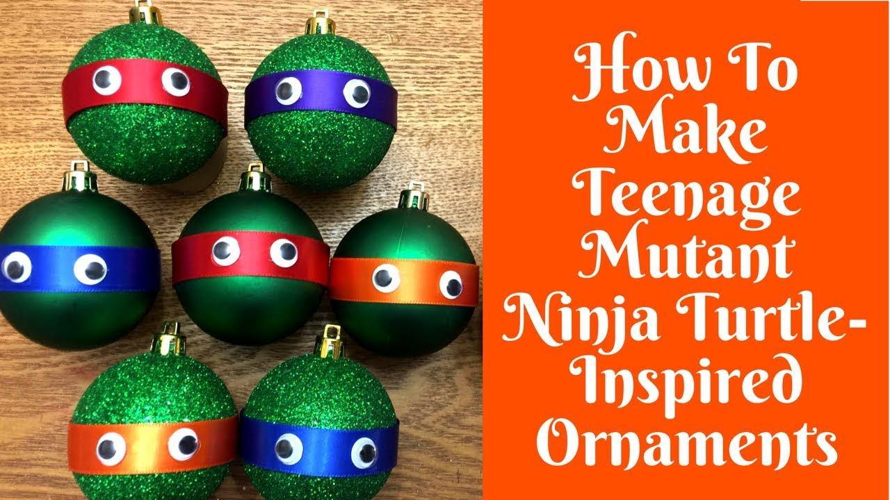 Ninja Turtle Christmas Tree.Christmas Crafts Teenage Mutant Ninja Turtle Inspired Ornaments