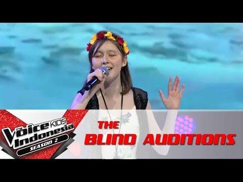 Nastya 'How Far I'll Go'   The Blind Auditions   The Voice Kids Indonesia Season 2 GTV 2017
