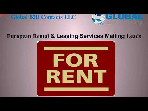 European Rental & Leasing Services Mailing Leads, http://globalb2bcontacts.com