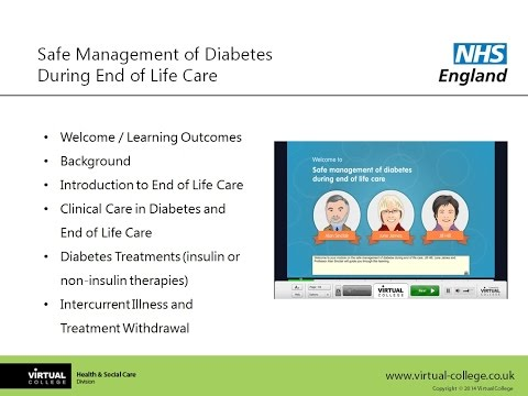 Diabetes During End of Life Care Webinar