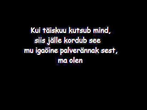 Terminaator - Kuutõbine with lyrics/sõnadega