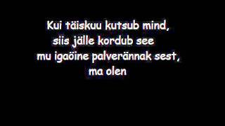 Terminaator - Kuutõbine with lyrics/sõnadega