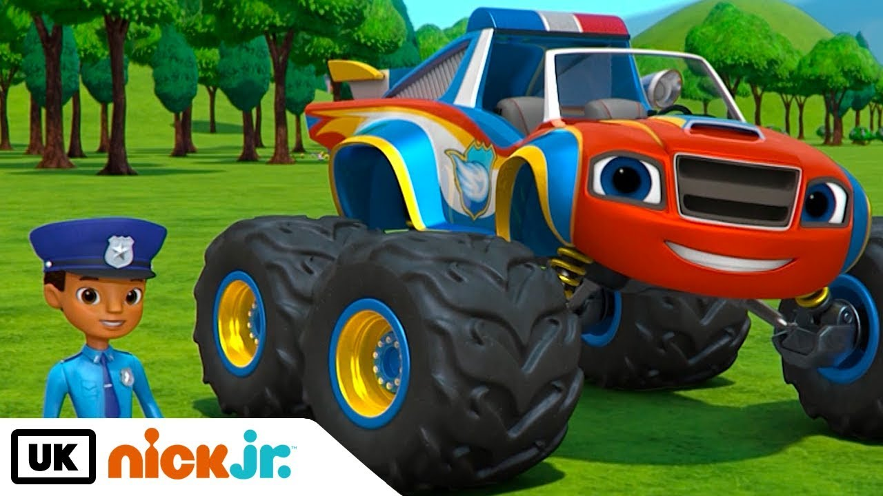 Blaze And The Monster Machines Officer Blaze Nick Jr Uk Youtube