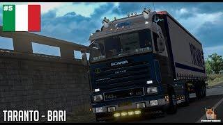 Italia DLC | Scania 143 Taranto - Bari | Euro Truck Simulator 2 (ETS2 1.30)
