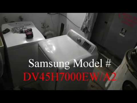 Samsung Dryer Repair M Dv45h7000ewa2 Youtube